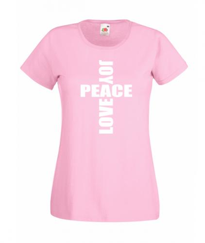 ladies fitted light pink joypeacelove